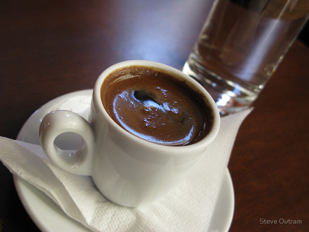 A cup of strong Greek Coffee by Steve Outram