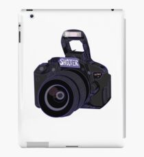 Camera Shooter Blue iPad Case/Skin
