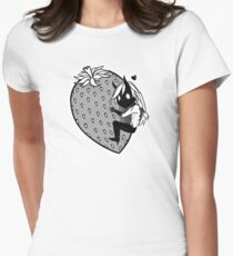 Big Strawberry Womens Fitted T-Shirt