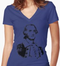 GENERAL GEORGE WASHINGTON Women's Fitted V-Neck T-Shirt