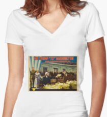 Mr. Trump Goes To Washington Women's Fitted V-Neck T-Shirt