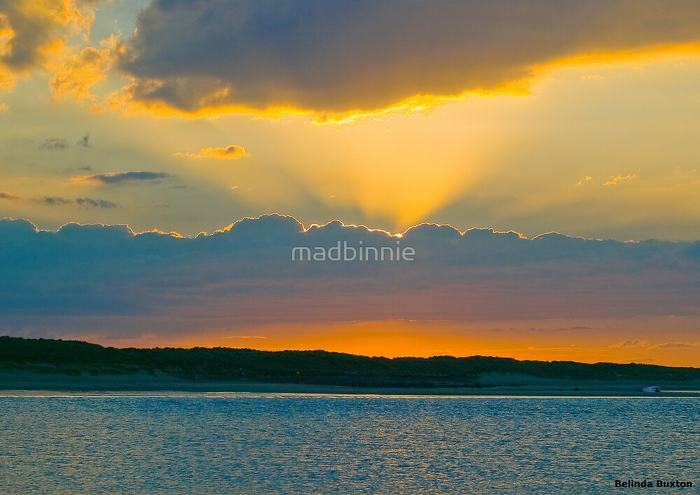 Sunset at Sea Palling by madbinnie