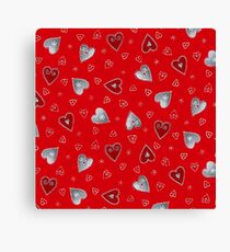 Hearth red Canvas Print