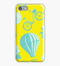 Yellow and Blue Balloons and Bicycles iPhone Case/Skin