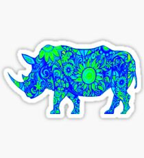 The Rhino Abstract Sticker