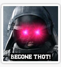 "MONTANGE ""BEGONE THOT!"" Sticker"