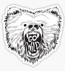 GO WILD. Sticker