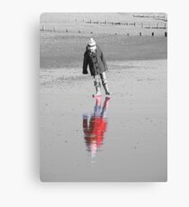 Reflections in the sand Canvas Print