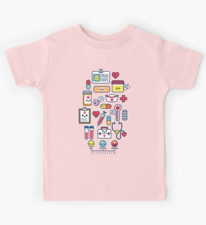 Proud To Be a Nurse / Surface Pattern Design / Blue Kids Clothes