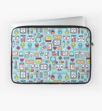 Proud To Be a Nurse / Surface Pattern Design / Blue Laptop Sleeve
