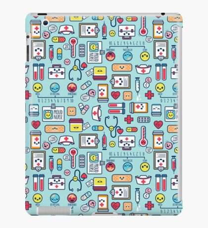 Proud To Be a Nurse / Surface Pattern Design / Blue iPad Case/Skin