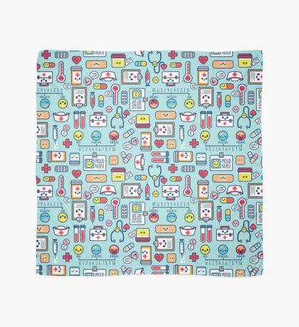 Proud To Be a Nurse / Surface Pattern Design / Blue Scarf