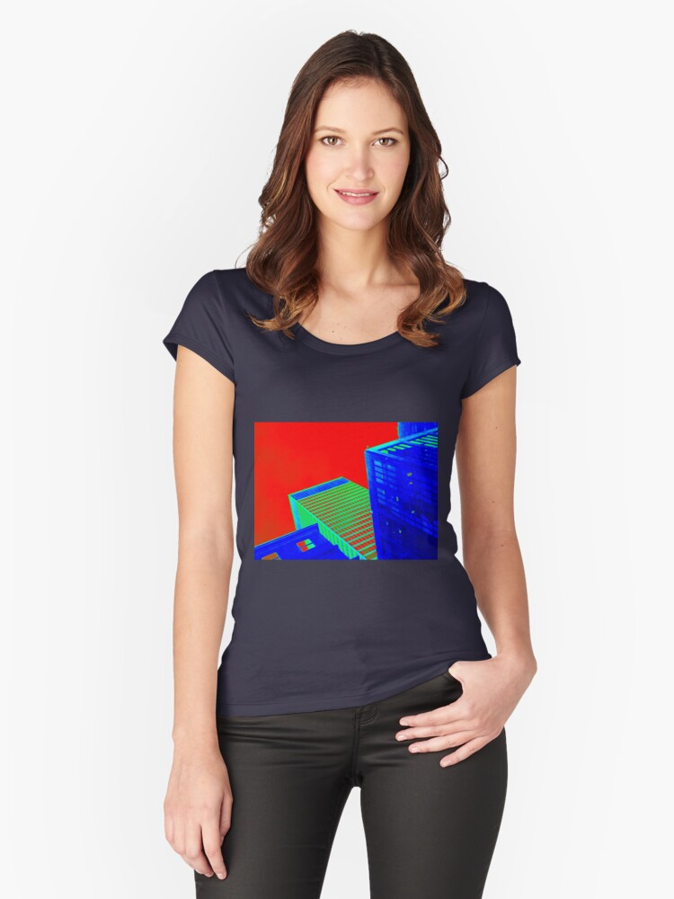 NYC series - #14 Women's Fitted Scoop T-Shirt Front