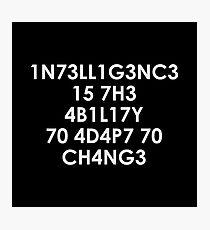 Intelligenz Fotodruck