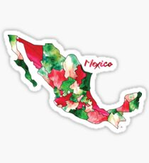 Watercolor Countries - Mexico Sticker