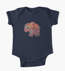 Vintage Elephant One Piece - Short Sleeve