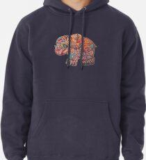Vintage Elephant Pullover Hoodie