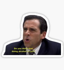 michael scott the office screen cap Sticker