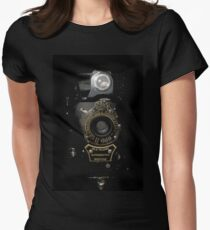 VINTAGE AUTOGRAPHIC BROWNIE FOLDING CAMERA Women's Fitted T-Shirt