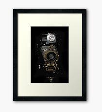 VINTAGE AUTOGRAPHIC BROWNIE FOLDING CAMERA Framed Print