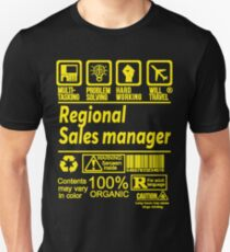 REGIONAL SALES MANAGER SOLVE PROBLEMS DESIGN Unisex T-Shirt