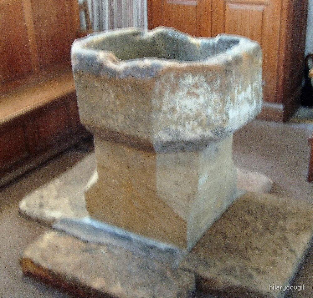 Font at Escombe Church by hilarydougill