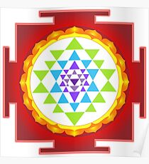 Sri Yantra Mandala for Meditation Poster