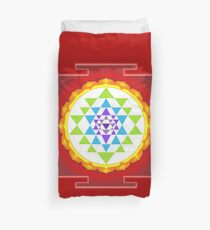 Sri Yantra Mandala for Meditation Duvet Cover