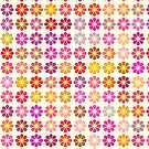 Multicolored floral pattern by Gaspar Avila