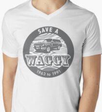 Speichern Sie einen Waggy Grey T-Shirt mit V-Ausschnitt