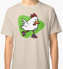 Rollerskating Chicken Classic T-Shirt