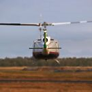 Huey Helicopter Departing by PrecisionHeli