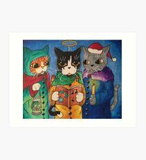 Carol Singer Cats Art Print