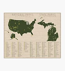 US National Parks - Michigan Photographic Print