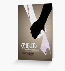 Othello by William Shakespeare Greeting Card