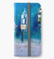 Turkish Boats in the Azure Sea iPhone Wallet/Case/Skin