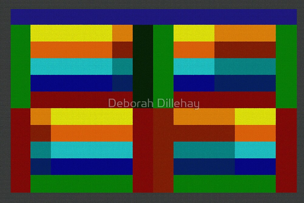 Red and Green Pillar by Deborah McCormick