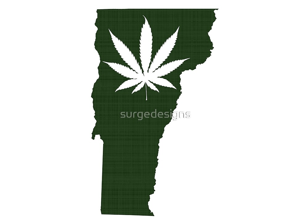 Marijuana Leaf Vermont by surgedesigns