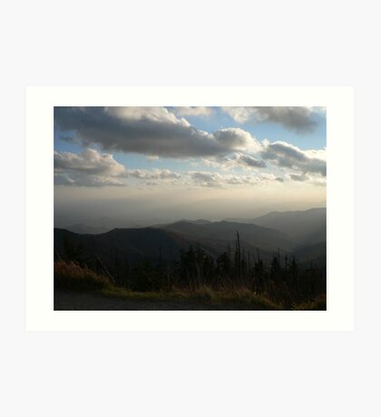 Fog On The Mountain Tops Art Print