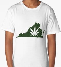 Marijuana Leaf Virginia Long T-Shirt
