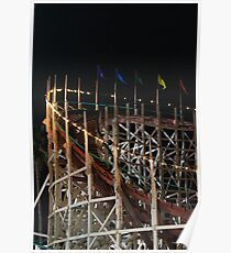 Mission Beach Roller Coaster Poster