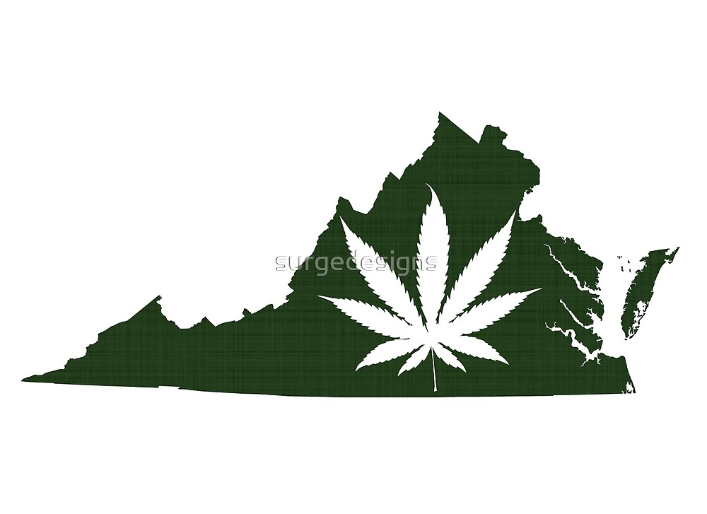 Marijuana Leaf Virginia by surgedesigns