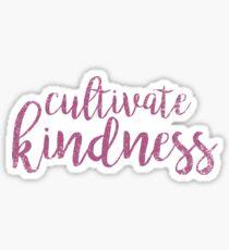 Cultivate Kindness - Purple Watercolor Sticker