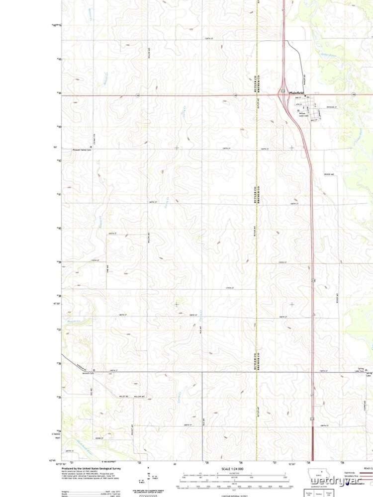 USGS TOPO Maps Iowa IA Plainfield 20130429 TM von wetdryvac