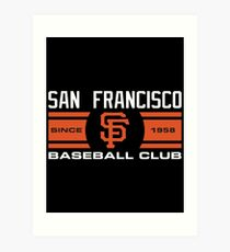 San Francisco Giants Baseball Club Art Print