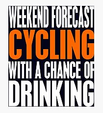 Cycling And Drinking Photographic Print