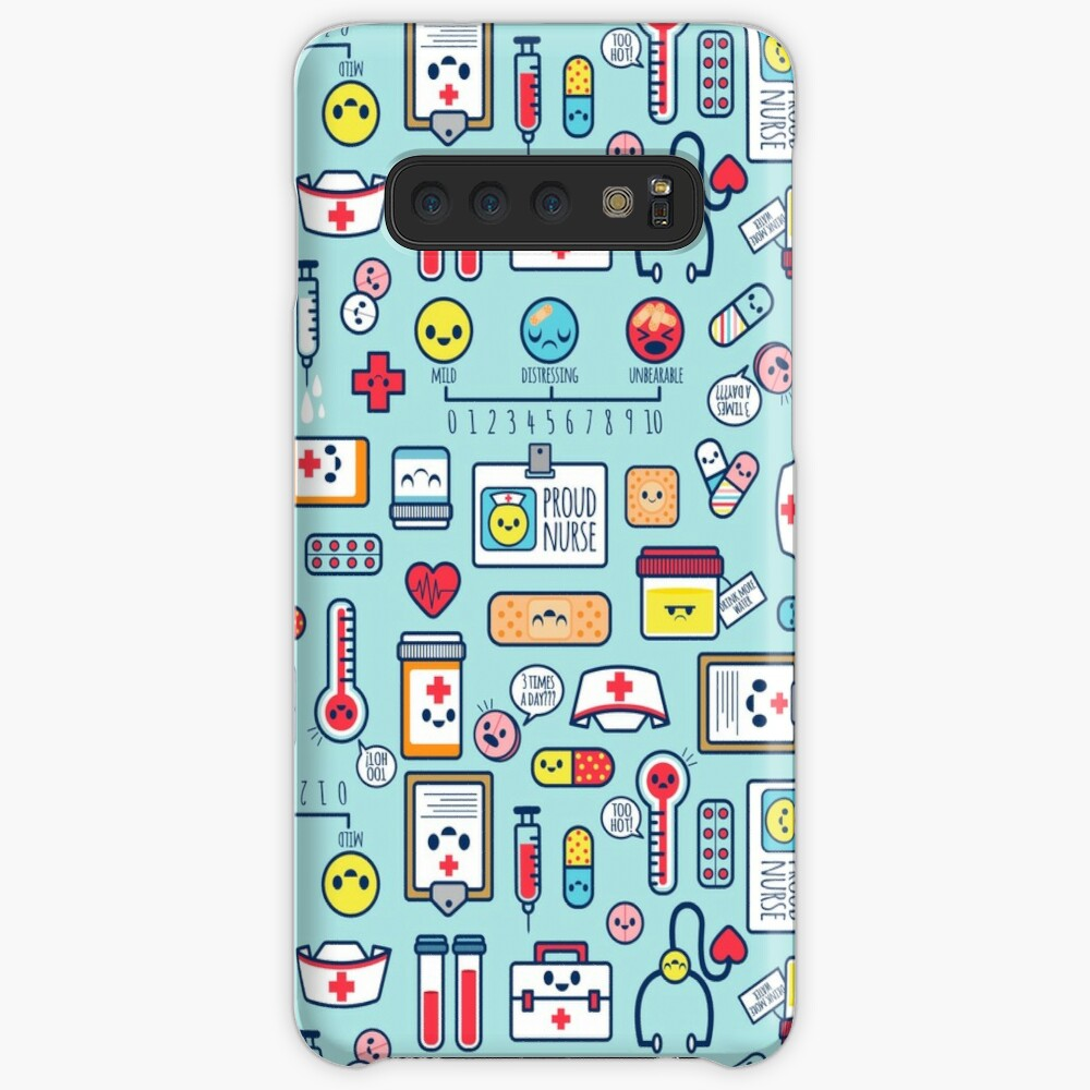 Proud To Be a Nurse / Surface Pattern Design / Blue Case & Skin for Samsung Galaxy