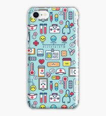 Proud To Be a Nurse / Surface Pattern Design / Blue iPhone Case/Skin