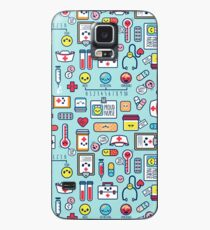 Proud To Be a Nurse / Surface Pattern Design / Blue Case/Skin for Samsung Galaxy