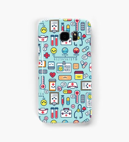 Proud To Be a Nurse / Surface Pattern Design / Blue Samsung Galaxy Case/Skin